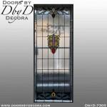 church stained glass cross window