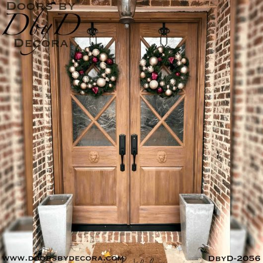 french country lion head double doors