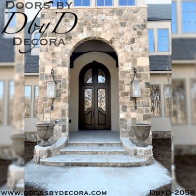 french country doors with transom