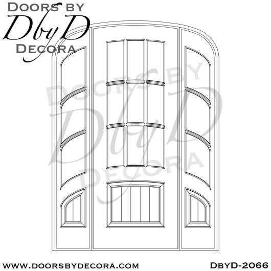 french country elliptical door