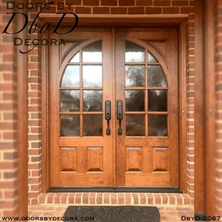 french country doors with radius glass