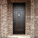 old world speakeasy plank door