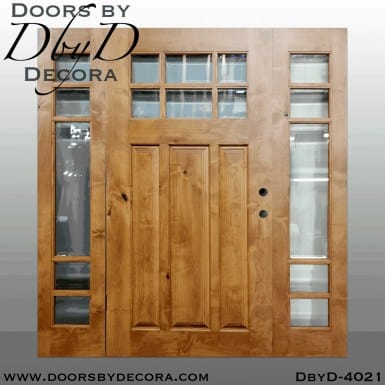 craftsman door with side lites