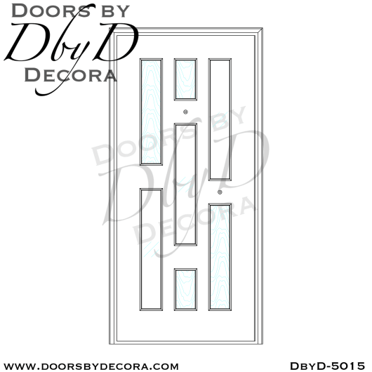 contemporary 7 lite door