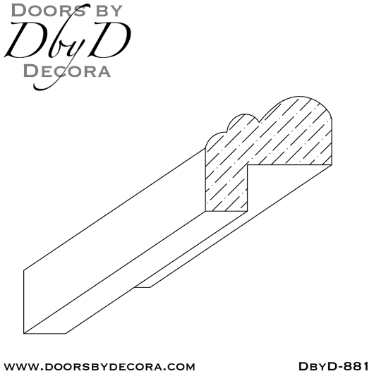 DbyD-881 legendary bolection molding