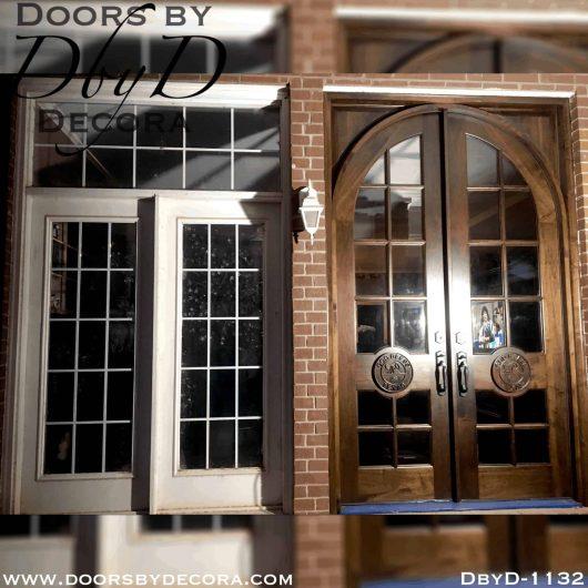 custom double french doors