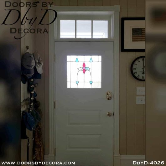 craftsman door with antique glass