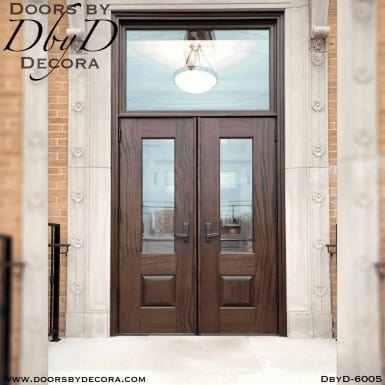 solid mahogany commercial doors