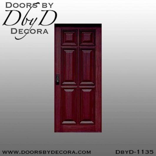 solid wood six panel door