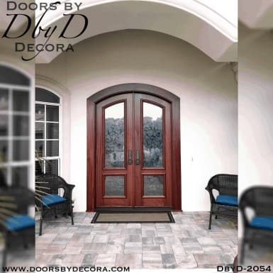 french country frosted glass doors