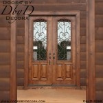 french country iron double doors