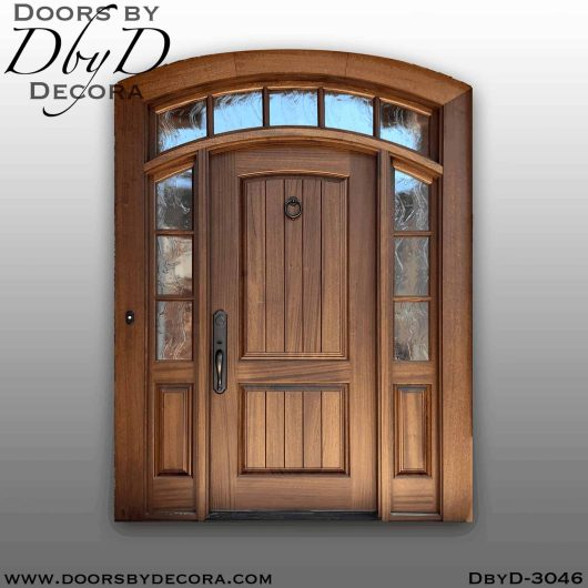 old world door with transom