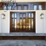 four panel door with side lites