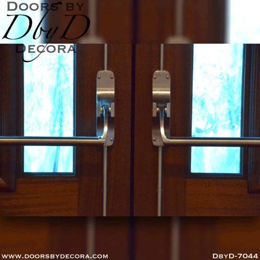 textured glass cross doors