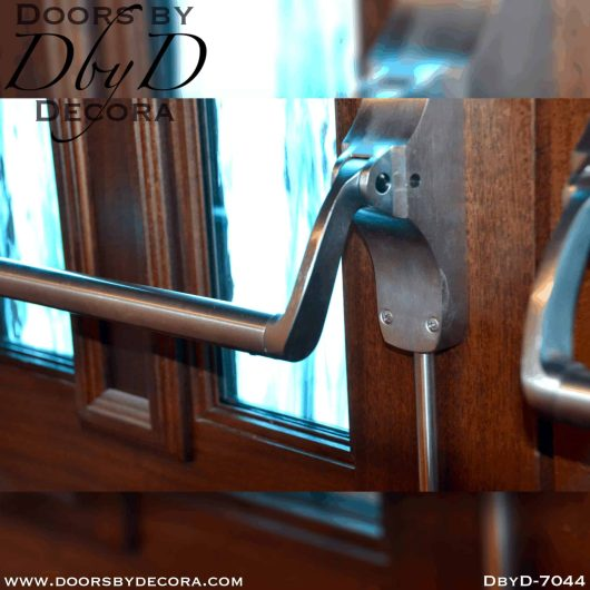 church textured glass cross doors