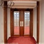 church interior glass doors