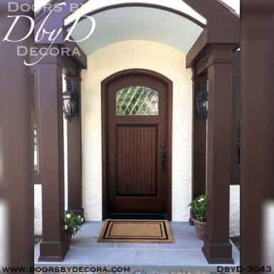 rustic segment top door