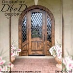 french country rustic door and sidelites