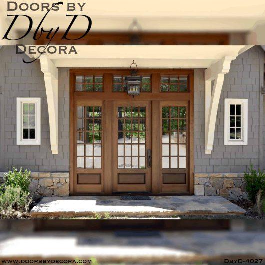 large craftsman doors