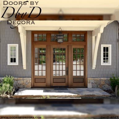 large craftsman doors