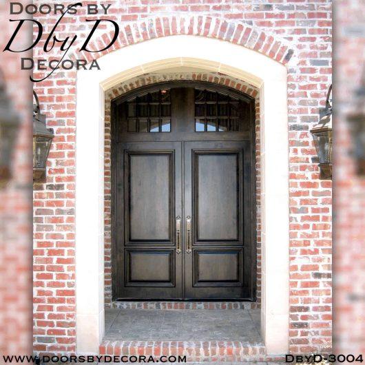 rustic two panel doors