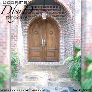 rustic double radius doors