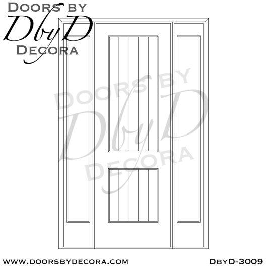 rustic v-groove door