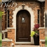 rustic radius top door