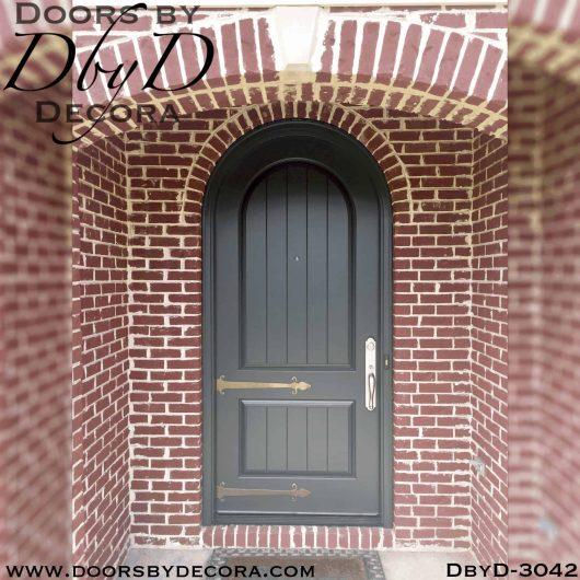 rustic radius top door