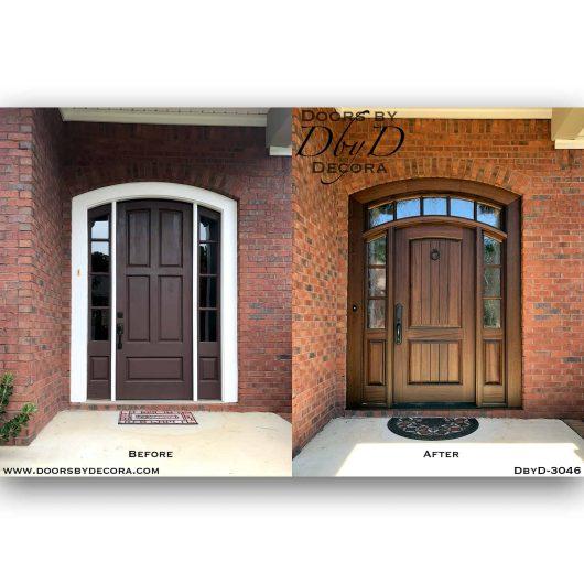 rustic door with transom