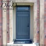 rustic painted plank door
