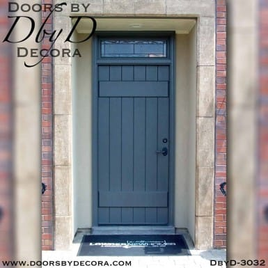 rustic painted plank door