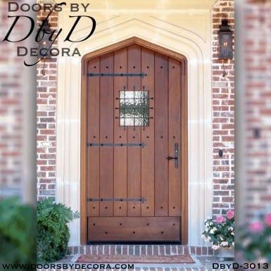 rustic gothic arch plank door