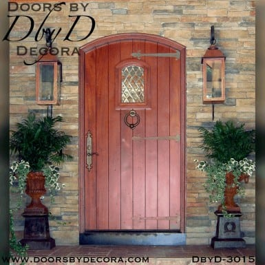 rustic segment top plank door