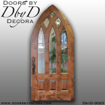 rustic cathedral top door