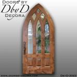 rustic cathedral top door