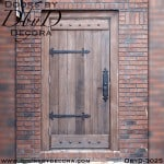 rustic plank door with battens