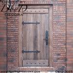 rustic plank door with battens