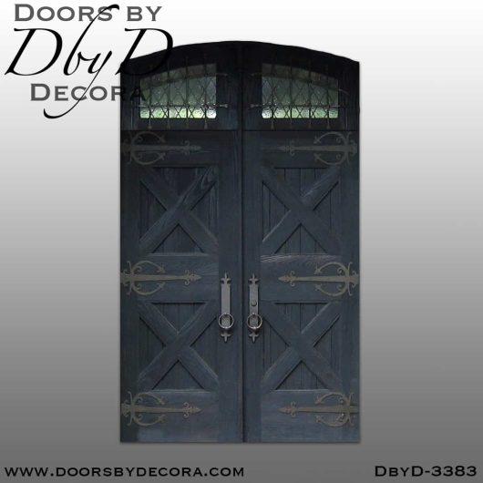 rustic double castle doors