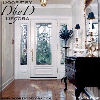 estate painted leaded glass door