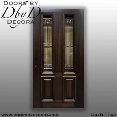 estate door with custom glass