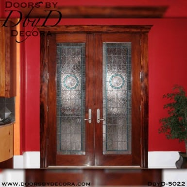 contemporary glass interior double doors