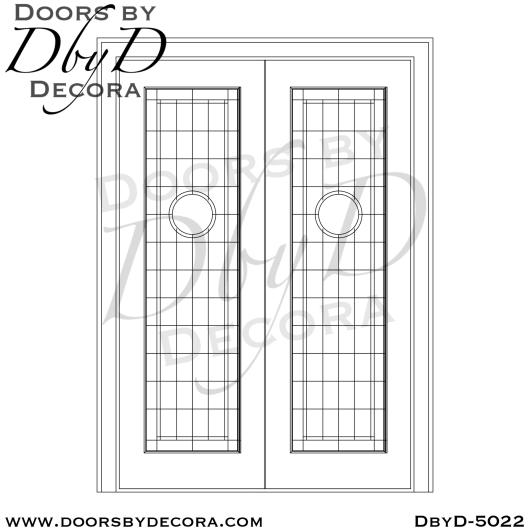 modern glass interior double doors