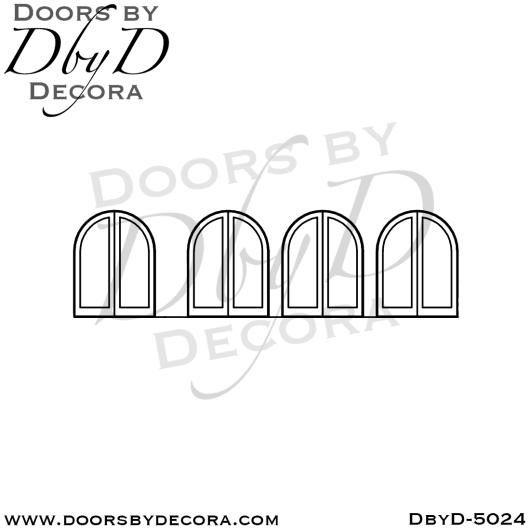 contemporary radius double doors