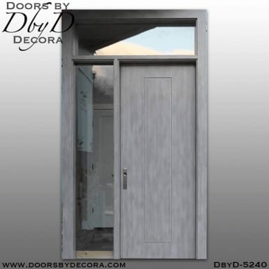 contemporary flush door with molding