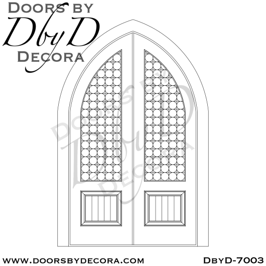 church stained glass cathedral doors