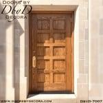 church 10 panel solid wood door