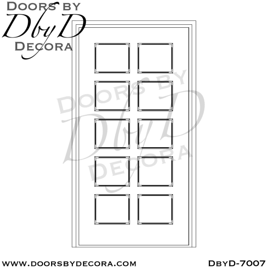 church 10 panel solid wood door