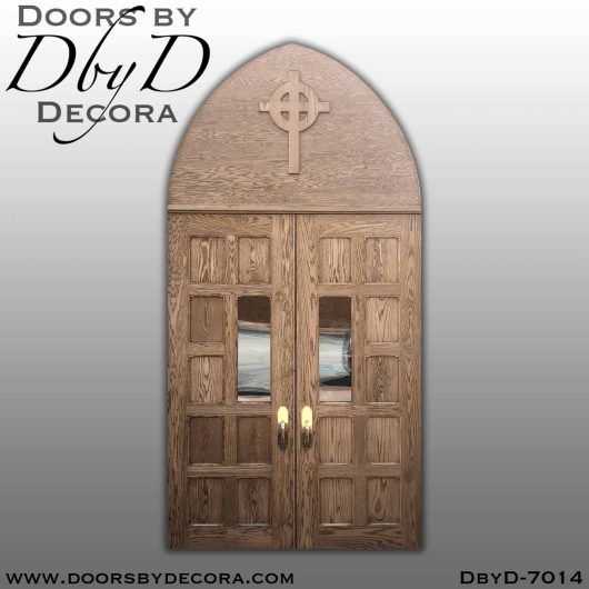 dbyd7014c 1 - church double doors with cross - Doors by Decora