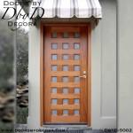 modern wood and glass door